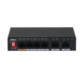 Switch Poe 4Port Port1-60W, Port2-4-30W 60W DC48-57V, Dahua PFS3006-4ET-60