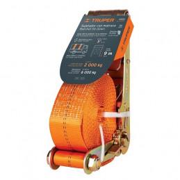Sujetadores de Carga con Ratchet, Carga Maxima 5400kg, ideal para Trailers y Camiones, SU-5400 10313 Truper