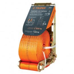 Sujetadores de Carga con Ratchet, Carga Maxima 6000kg, ideal para Trailers y Camiones, SU-6000 10314 Truper