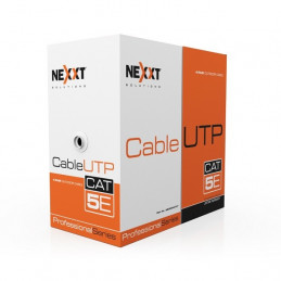 Cable de Red UTP Nexxt AB355NXT21 Cat5E 100m 24AWG CM Gris