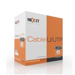 Cable de Red UTP Nexxt AB356NXT21 Cat6 100m 23AWG CM Gris