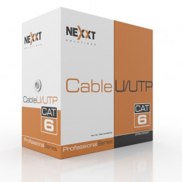 Cable de Red UTP Nexxt NGC-3UURGT00 Cat6 305m 23AWG CMR Gris