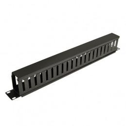 Administrador de cables horizontal Tripp-Lite 1U SmartRack Finger Duct con tapa SRCABLEDUCT1UAdministrador de cables horizontal