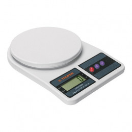 Balanza Digital 5kg Plato Polipropileno 2Medidas 2AA para Cocina, Truper 15161