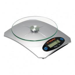 Balanza Digital 5kg Plato de vidrio 4Medidas ABS 2AAA para Cocina, Truper 15160