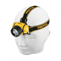 Linterna de Minero 65 Lumenes 3Pilas AAA Plastico, Truper 27083
