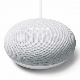 Bocina inteligente Google Nest Mini con asistente de voz color Gris GA00638-LA