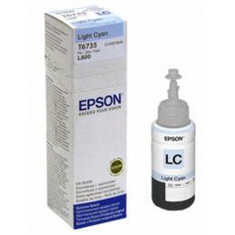 Botella de Tinta Epson 673 T673520, cian claro, 70 ml, para impresora L800