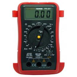 Multitester Digital Prasek Premium PR-301, DC500V AC500V Mide voltaje Amperaje ohmímetro diodos y continuidad