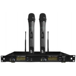 Microfono Inalambrico Profesional Dual UHF Manual Vozzex VZ-9006-M