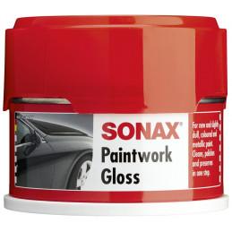 Cera en Pasta 250ml PaintWork Gloss, Limpia abrillanta y conserva, para pintura de colores, 316200 SONAX