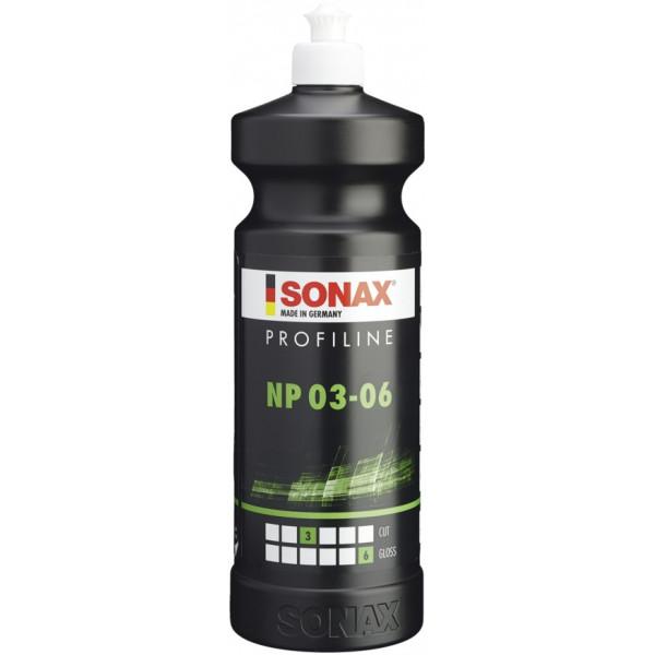 Pulidor ProfiLine NP 03-06 3P/6B, Nano polish NanoPro, Para pintura ligeramente corroida o pulido previo, 1 Litro, 208300 SONAX