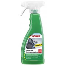 Protector de Interiores, Cockpit spray Green Lemon, Efecto Mate Sin Silicona, Limpia partes de Plastico, 500ml, 358241 SONAX