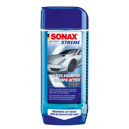 Champu Activo Active Shampoo 2 en 1, Con Dosificador, Limpia y protege, 500 ml, 214200 SONAX XTREME