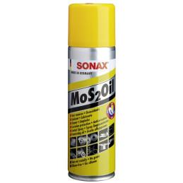 Lubricante MoS2Oil NanoPro Spray, Desoxida Lubrica Limpia anticorrosivo Aflojatodo No Graso sin silicona, 300ml, 339200 SONAX